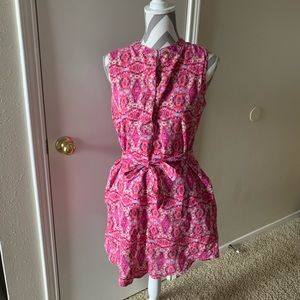 Cynthia Rowley Pink Cotton Sleeveless Dress Sz 6